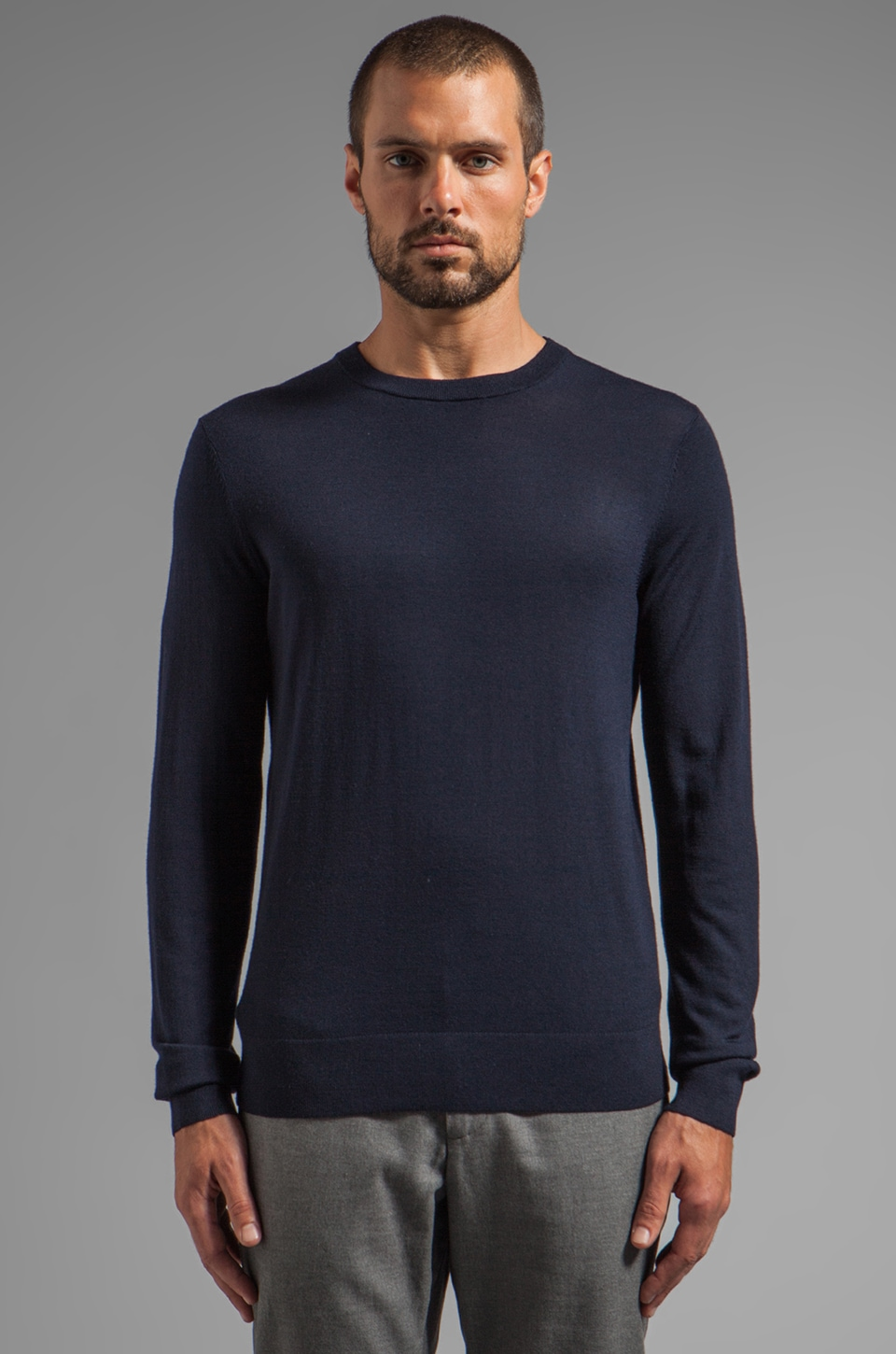 Theory Riland Pullover in Eclipse