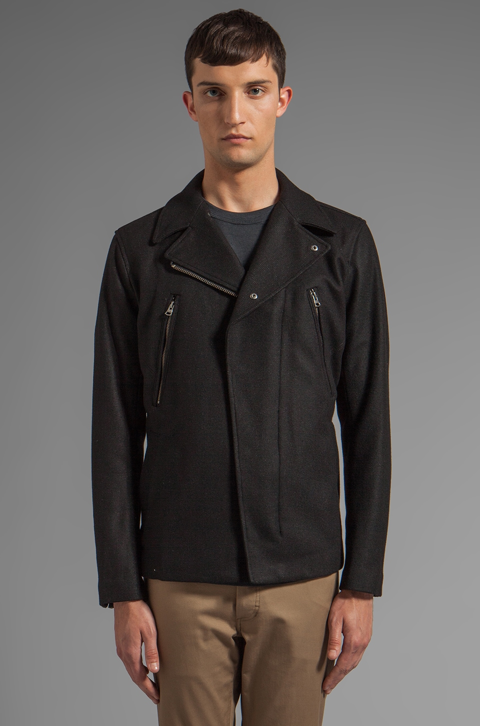 Theory Derwing Jacket in Black Multi