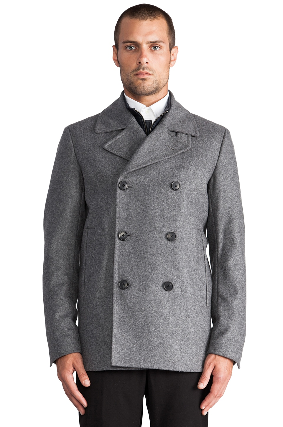 Theory Tanker Coat in Grey Heather