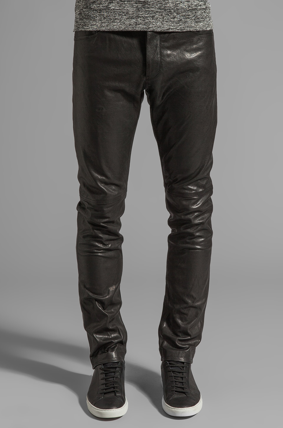 Theory Raffi BL Leather Pants in Black