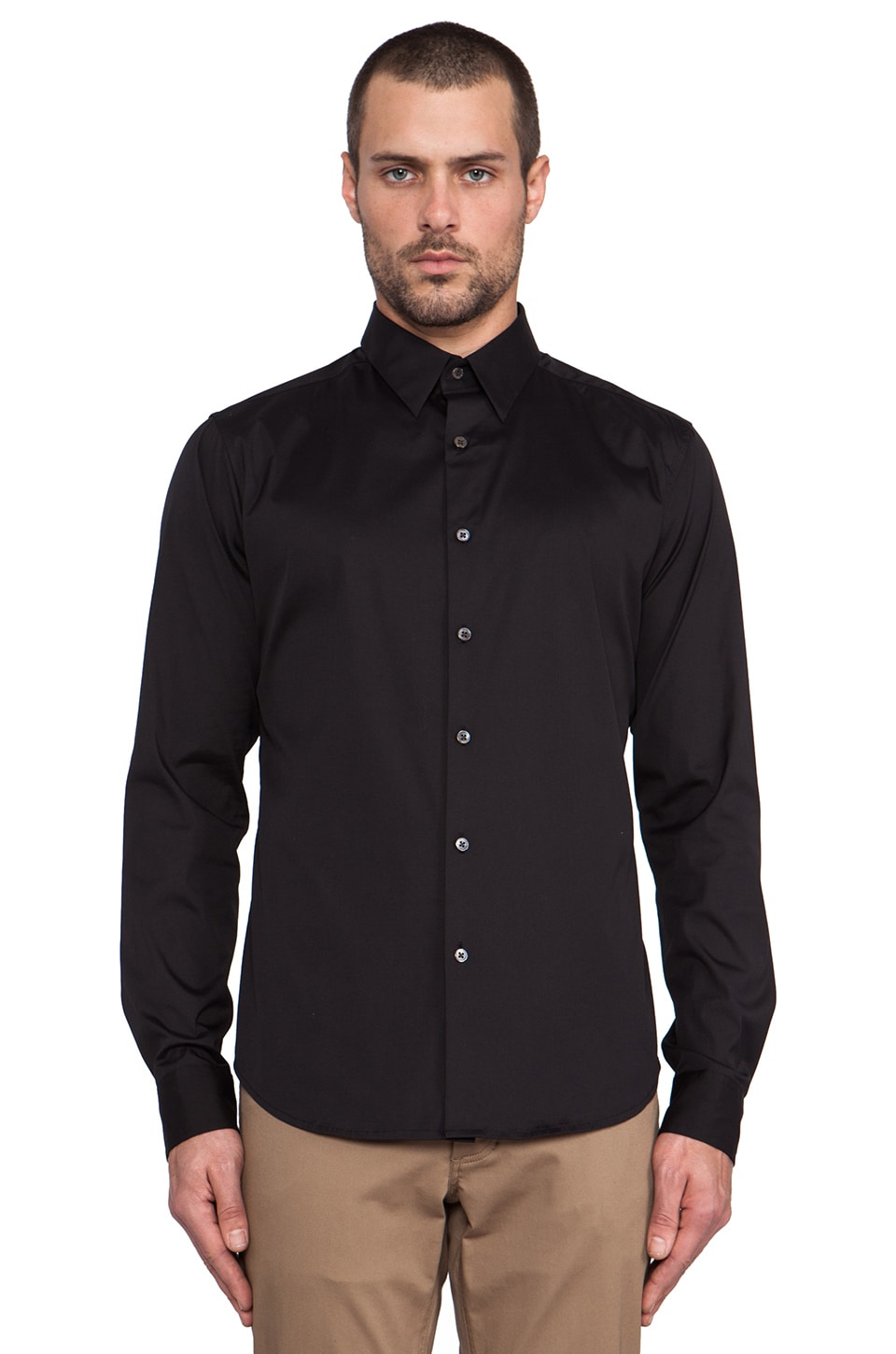 Theory Wealth Sylvain Shirt in Black