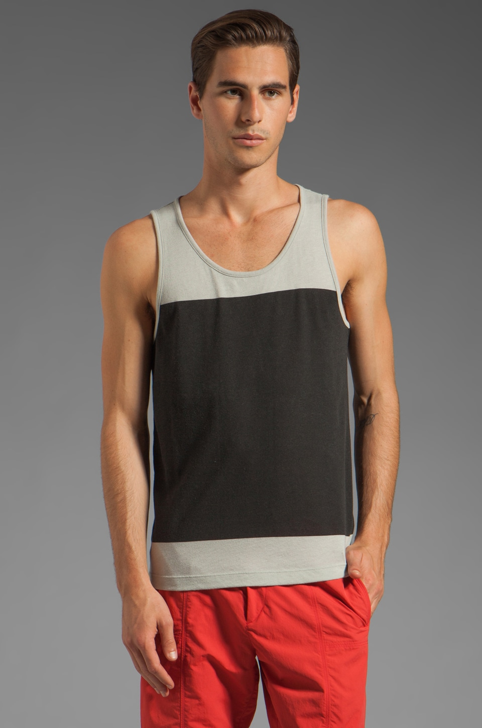 Theory Biome Block Simen Tank in Black