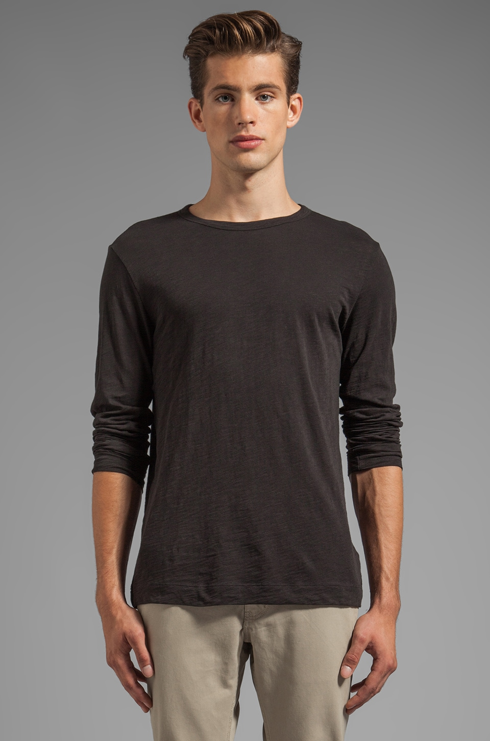 Theory Gaskell NL Tee in Black