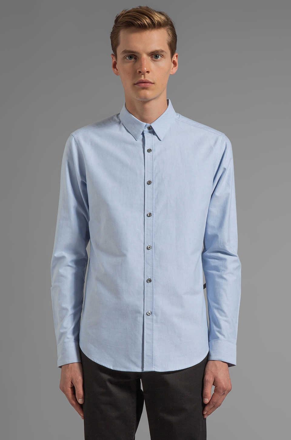 Theory Zack PS Button Down in Light Blue