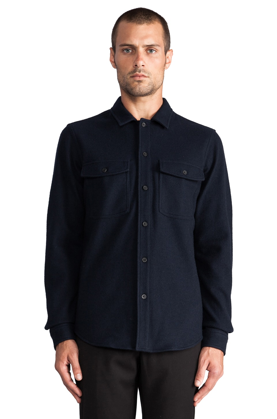 Theory Vago Button Down in Eclipse