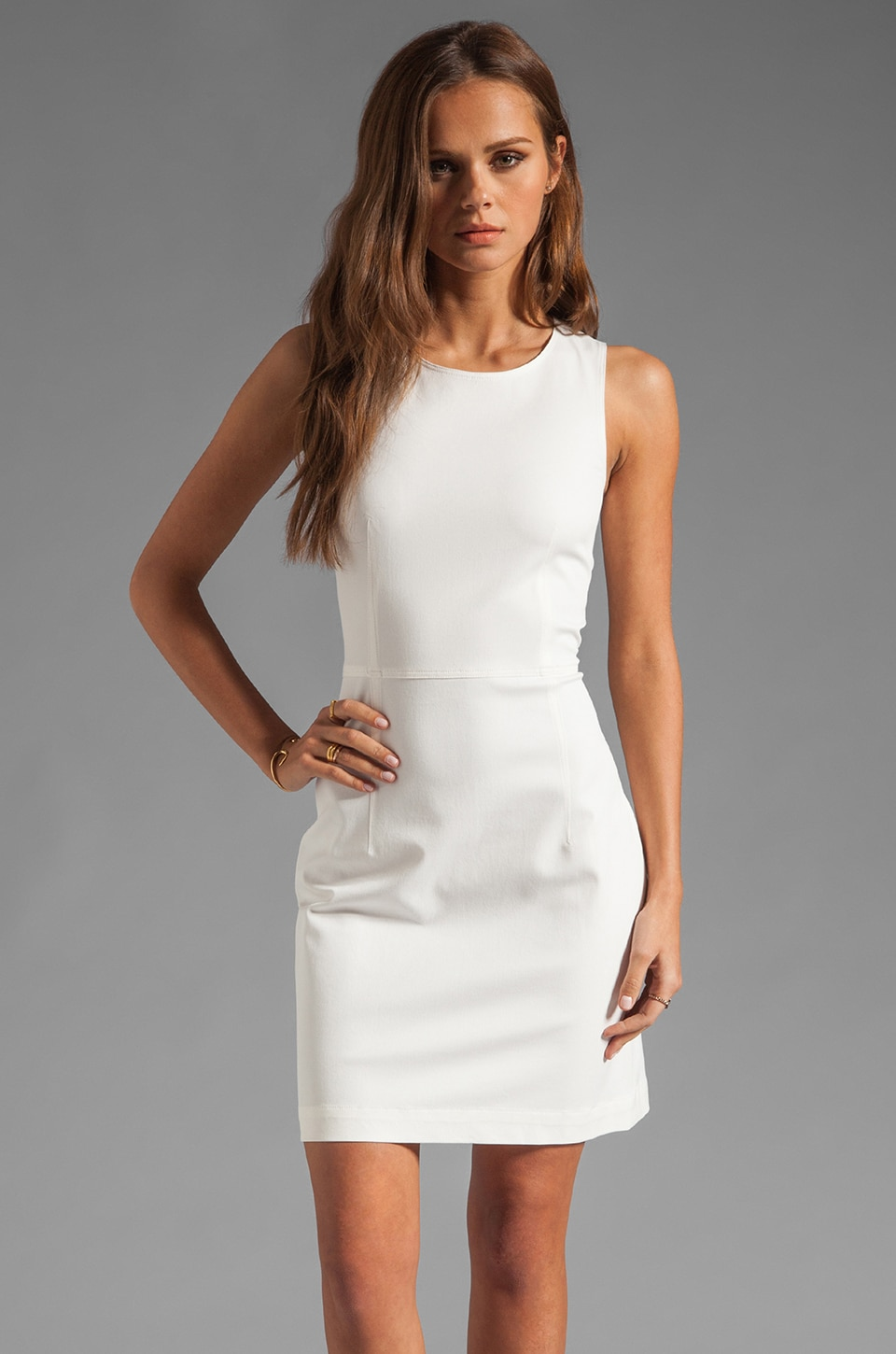 Theory Bistretch Diamita Dress in White