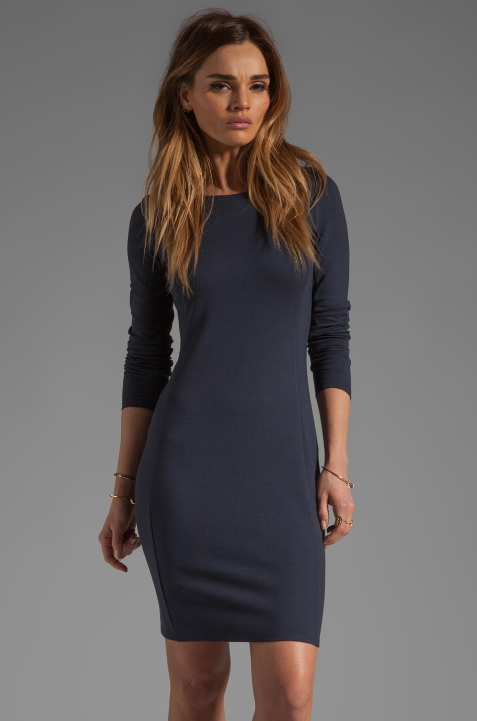 Theory Pryor Kalion Ponti Dress in True Navy