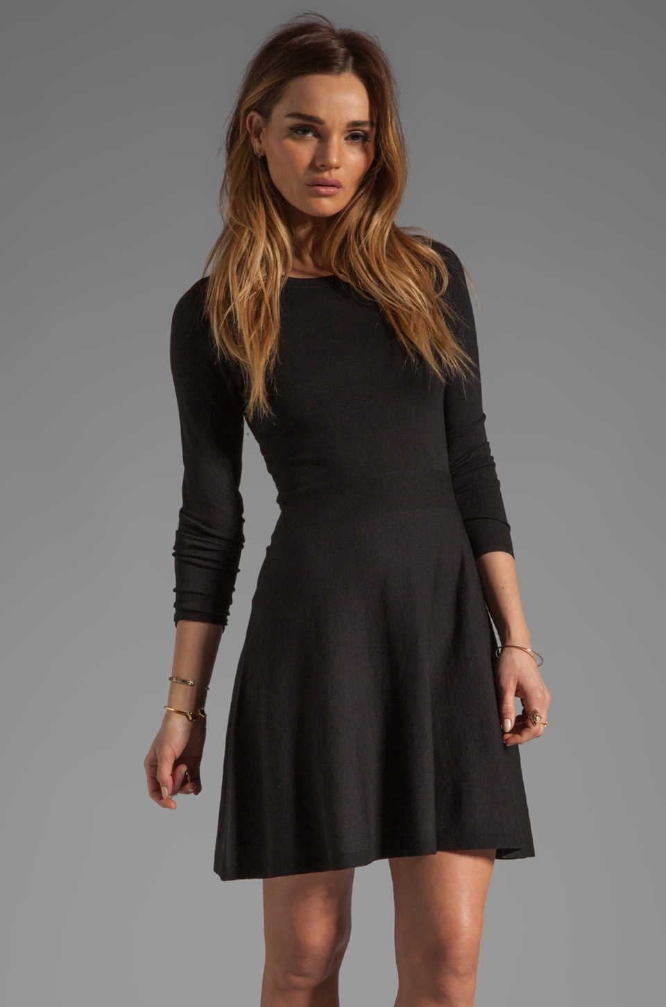Theory Gleam Annarey Silk/Cotton Blend Dress in Black