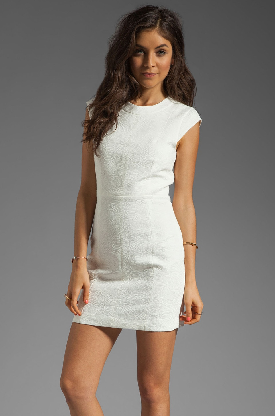 Theory Ancua Orinthia Jacquard Dress in White