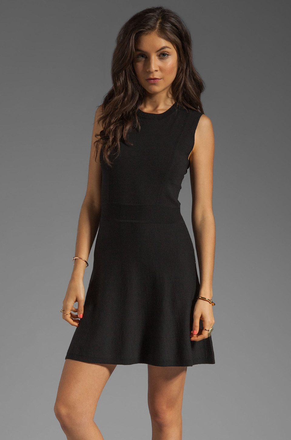 Theory Gleam Taolina Silk Blend Dress in Black