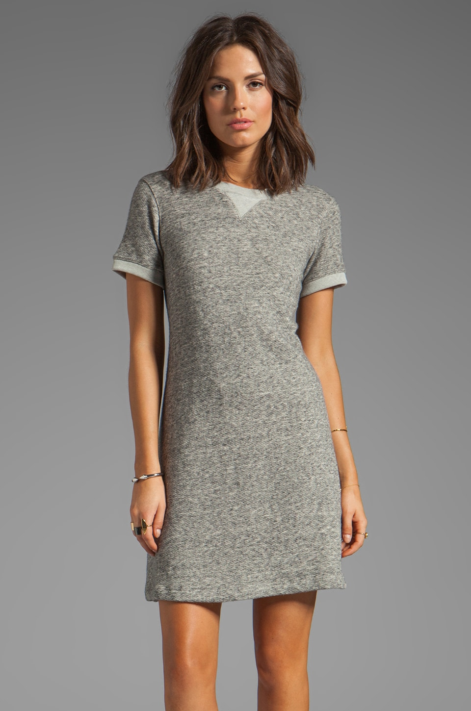 Theory Teju R Dress in Light Heather Grey