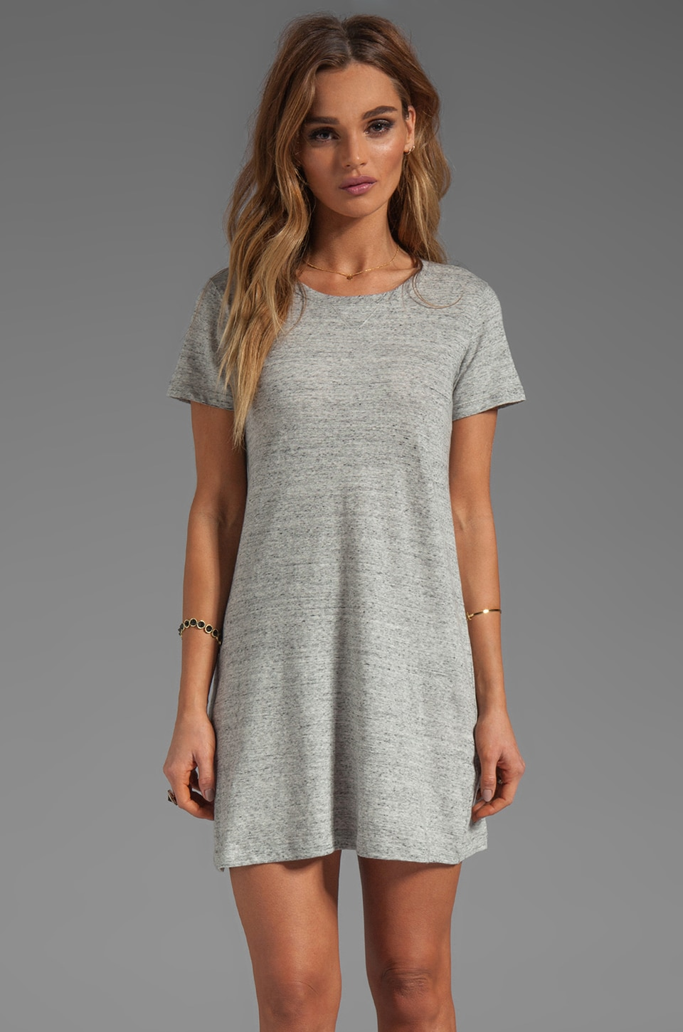 Theory Teju Dress in Heather Grey