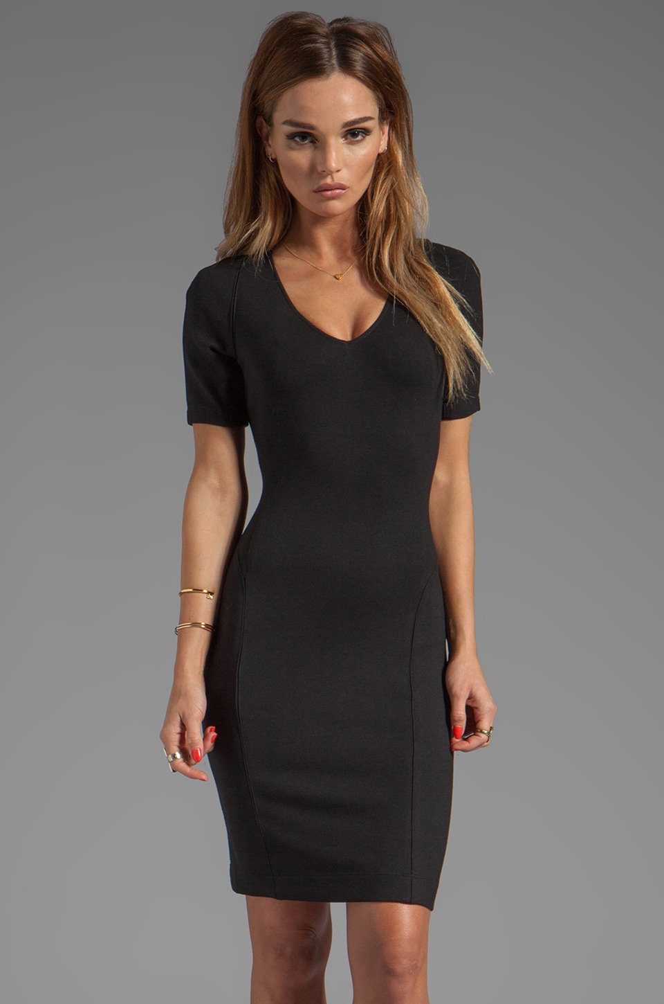 Theory Serto Dress in Black