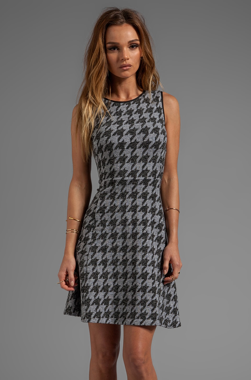 Theory Nikay Dress in Porter Check