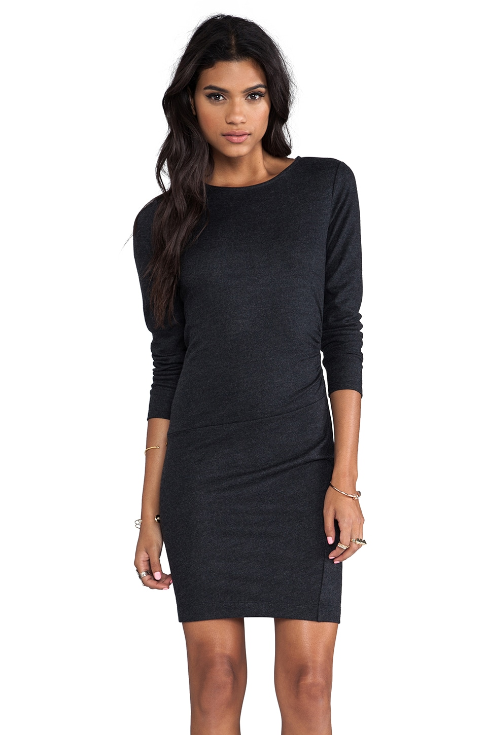 Theory Jinsel Jersey Dress in Dark Charcoal