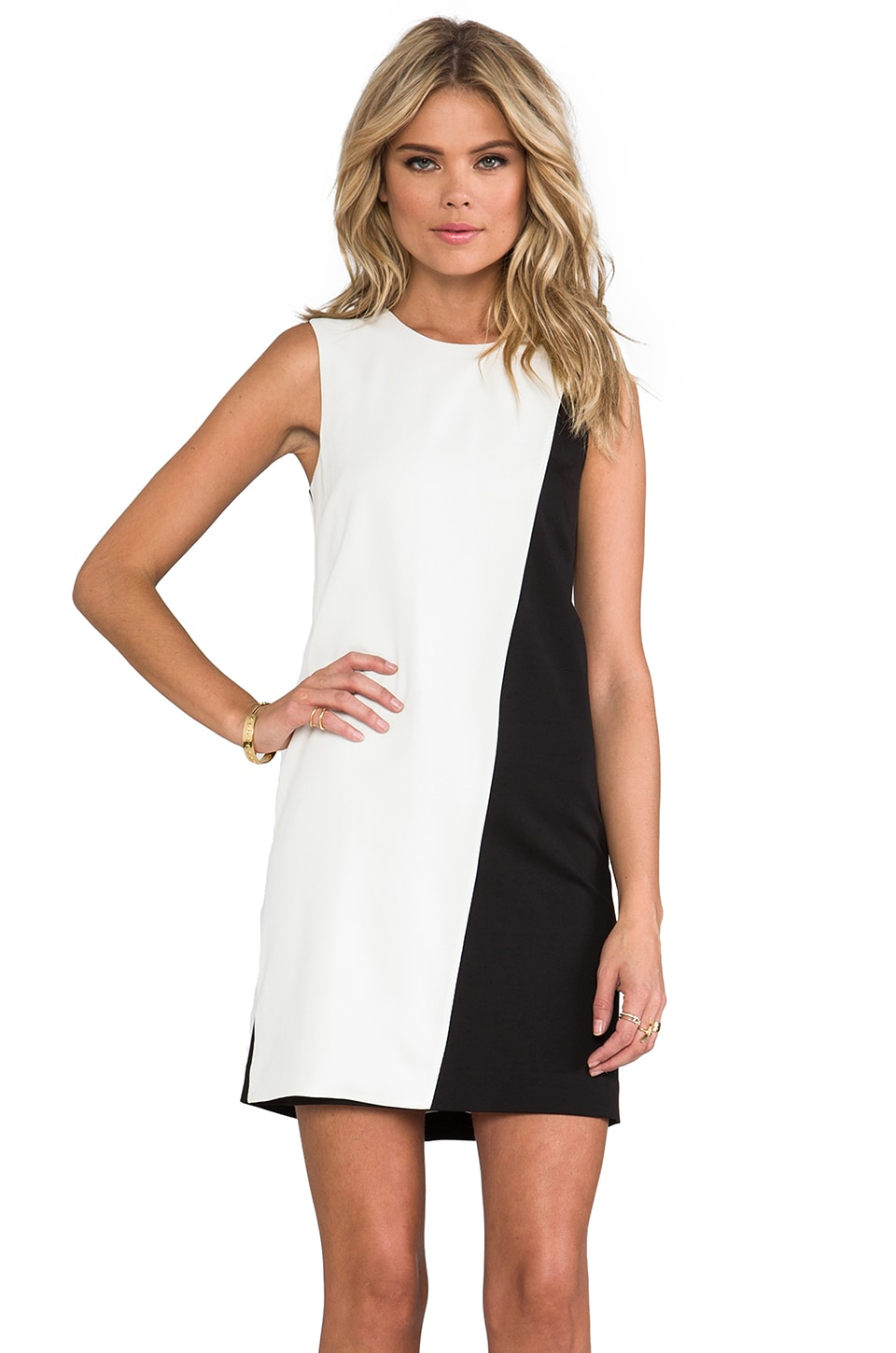 Theory Randla C Dress in Black/White