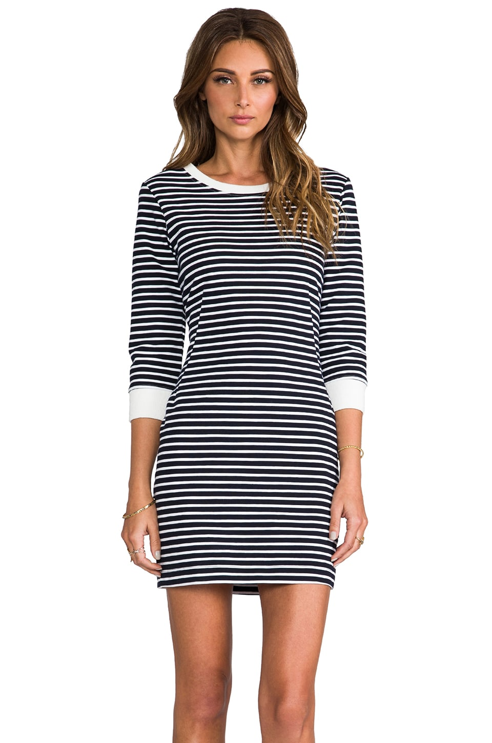 Theory Bimini Zamion Dress in Uniform & White