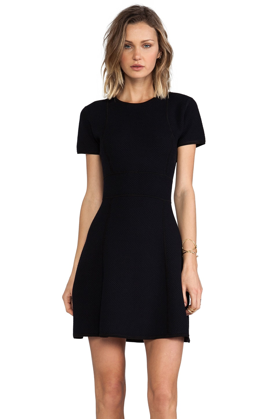 Theory Alancy Dress in Black & Armada