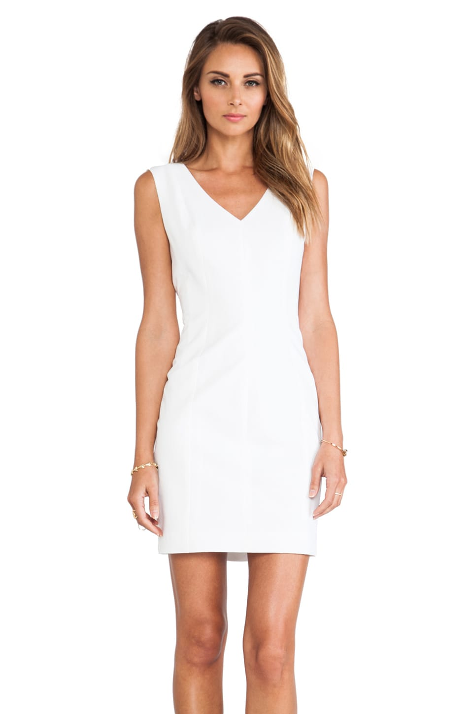 Theory Molana Checklist Dress in White