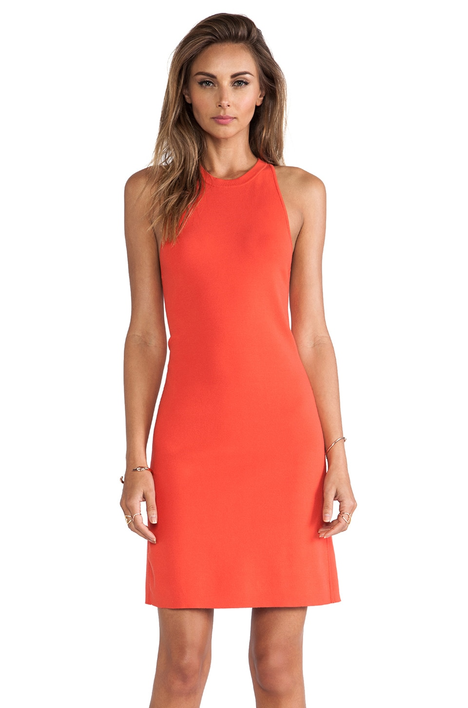 Theory Wellra Dress in Flame