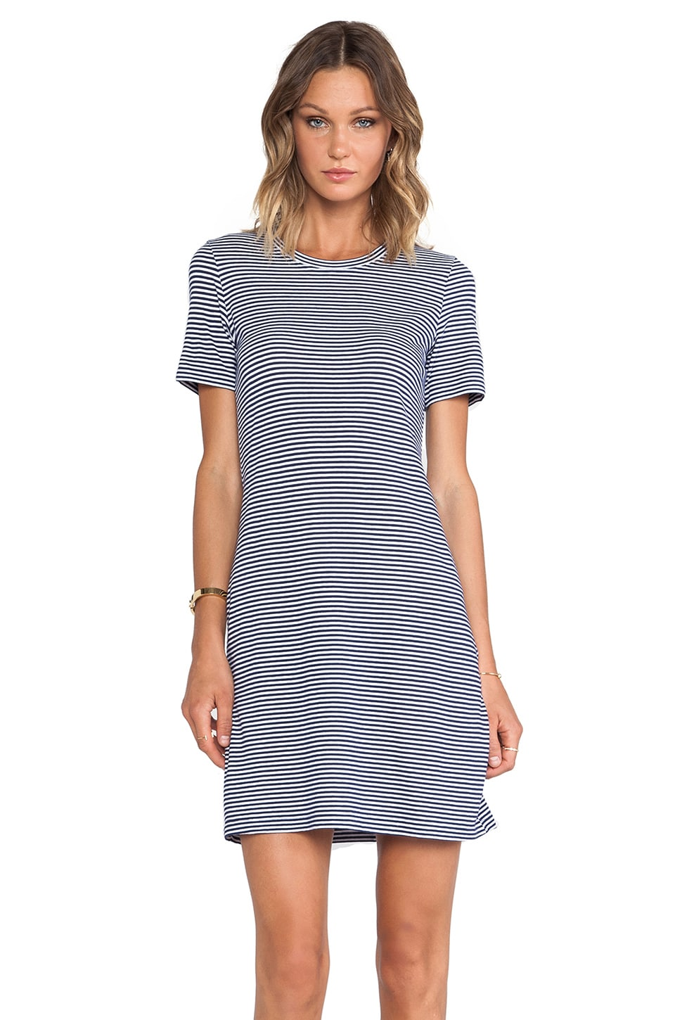 Theory Cherry Dress in Denim Blue & White