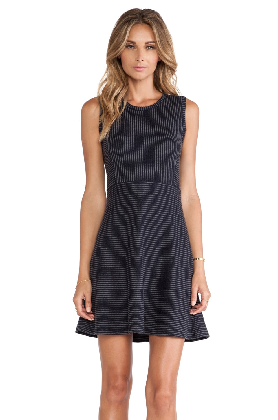 Theory Randria Dress in Dark Grey & Navy