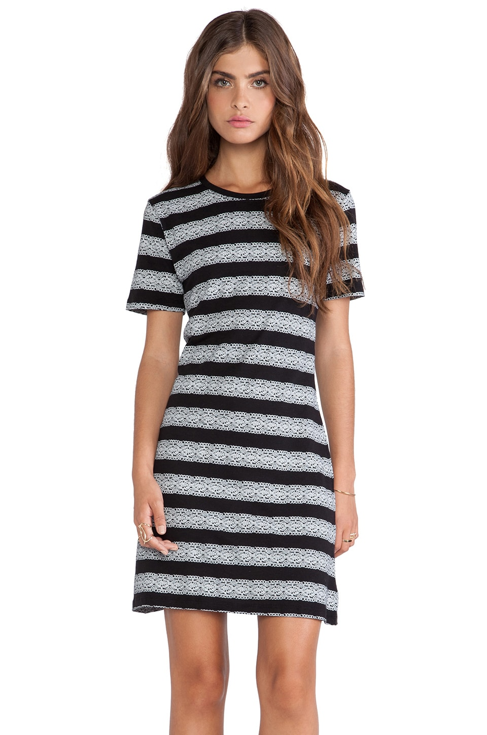 Theory Ilace Dress in Black & White