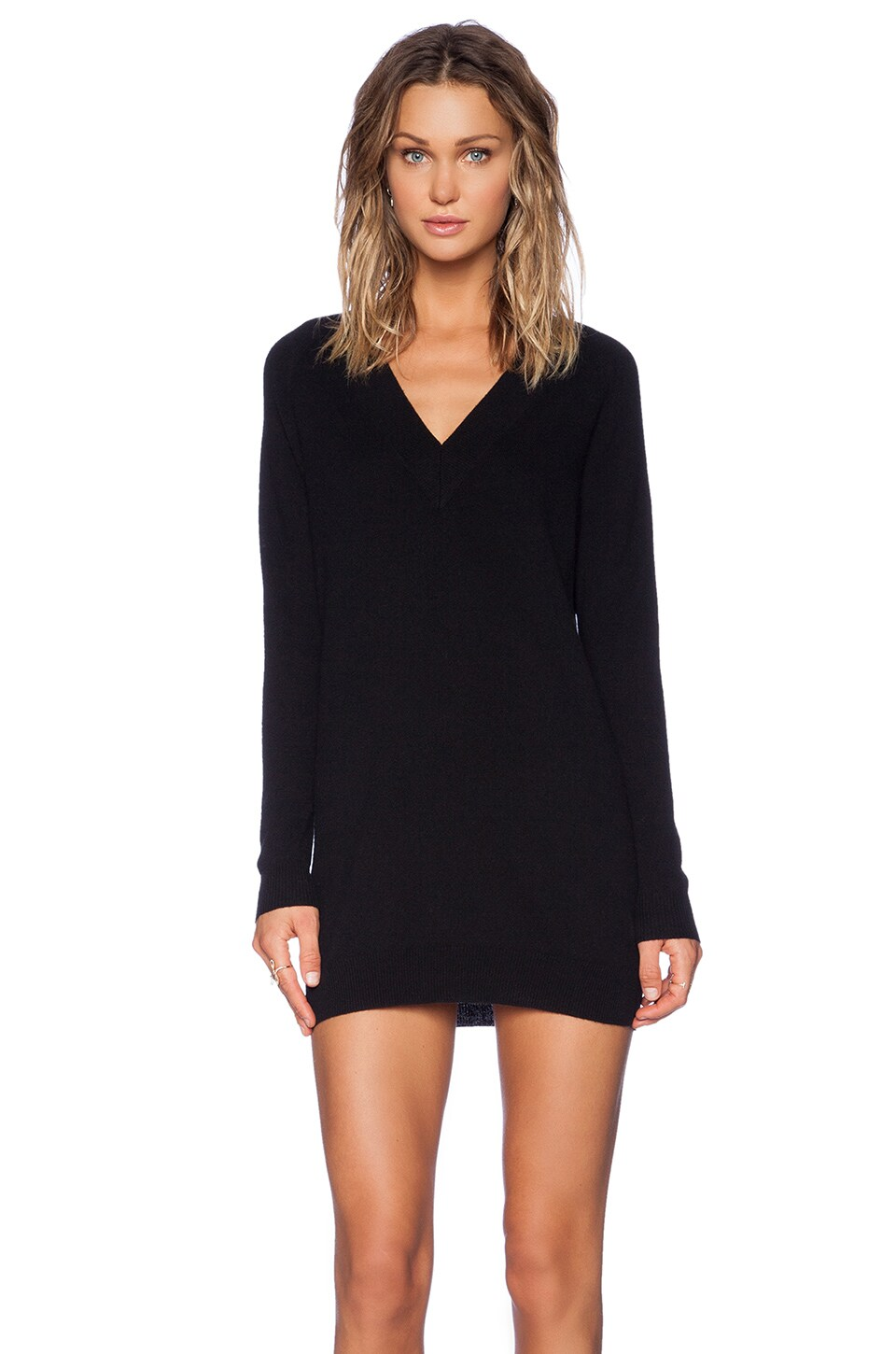 Theory Delrina Cashmere Sweater Dress in Black