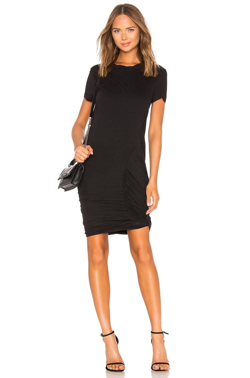 Theory Drape Twist Dress in Black