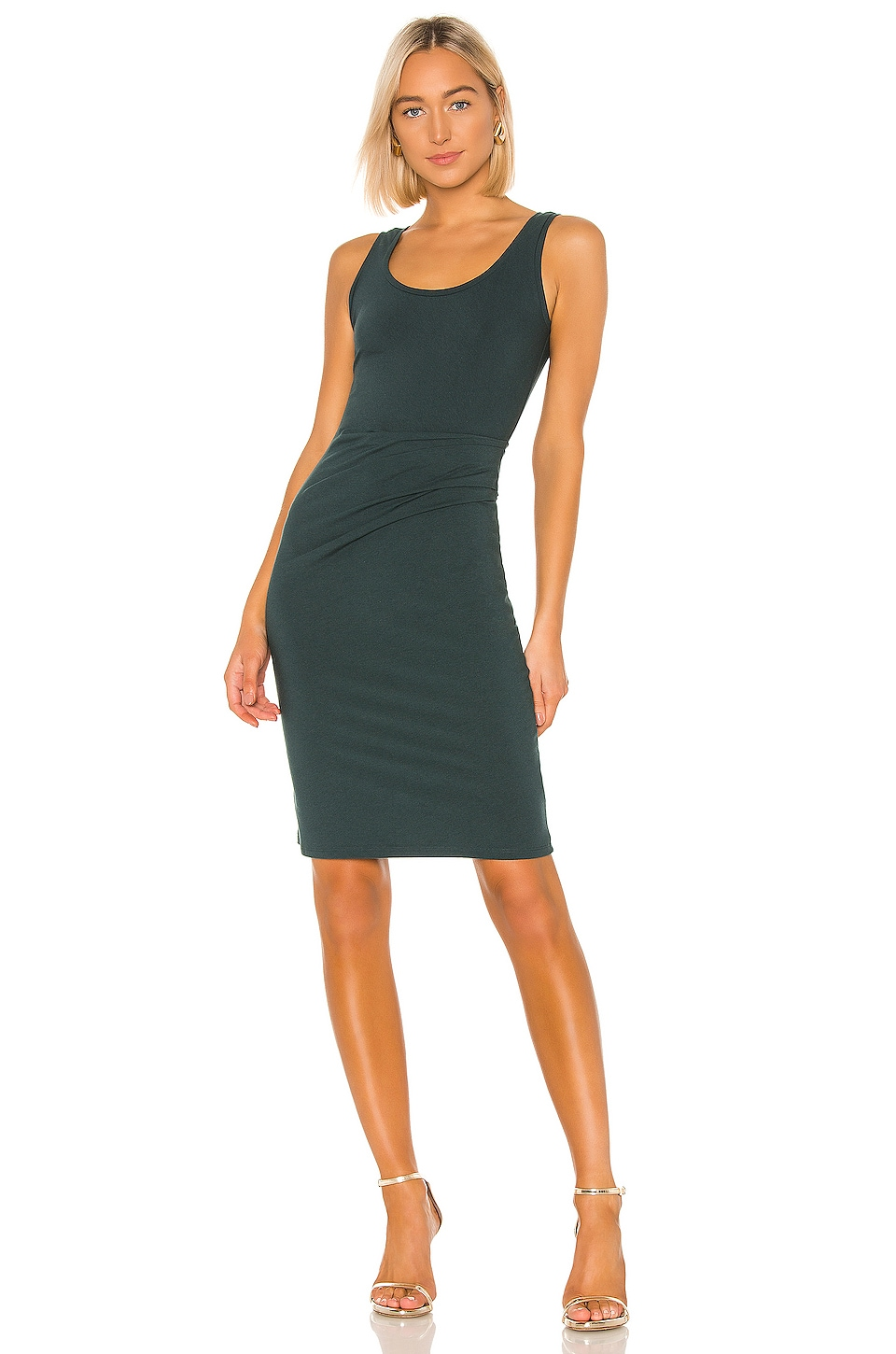 Theory Round Neck Dress in Pine Green