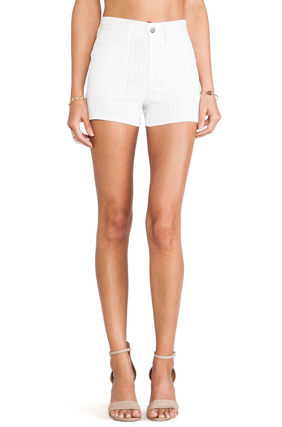 Theory Brendan Short in White & Khaki