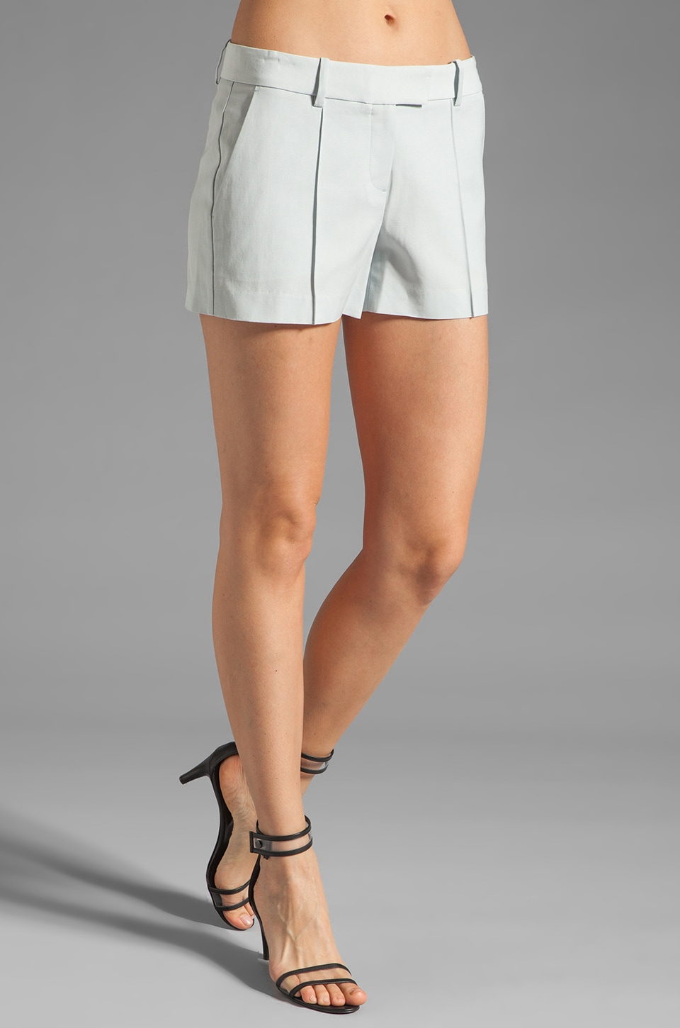 Theory Jubilee POE Shorts in Grey Sky