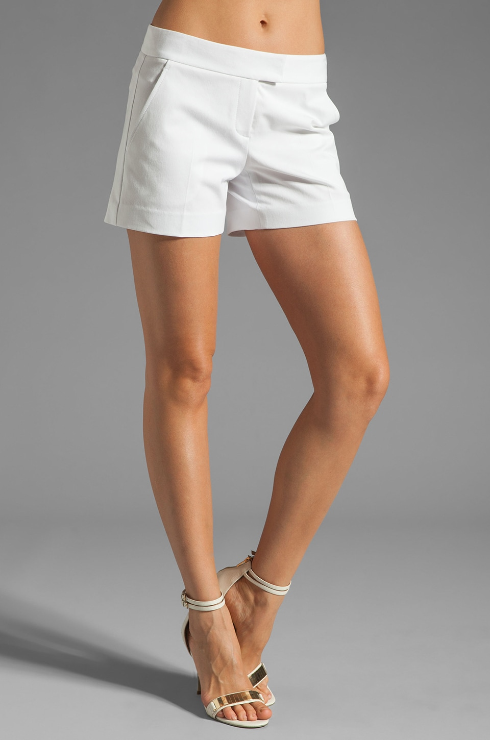 Theory Bistretch 2 Lynie NB Twill Shorts in White