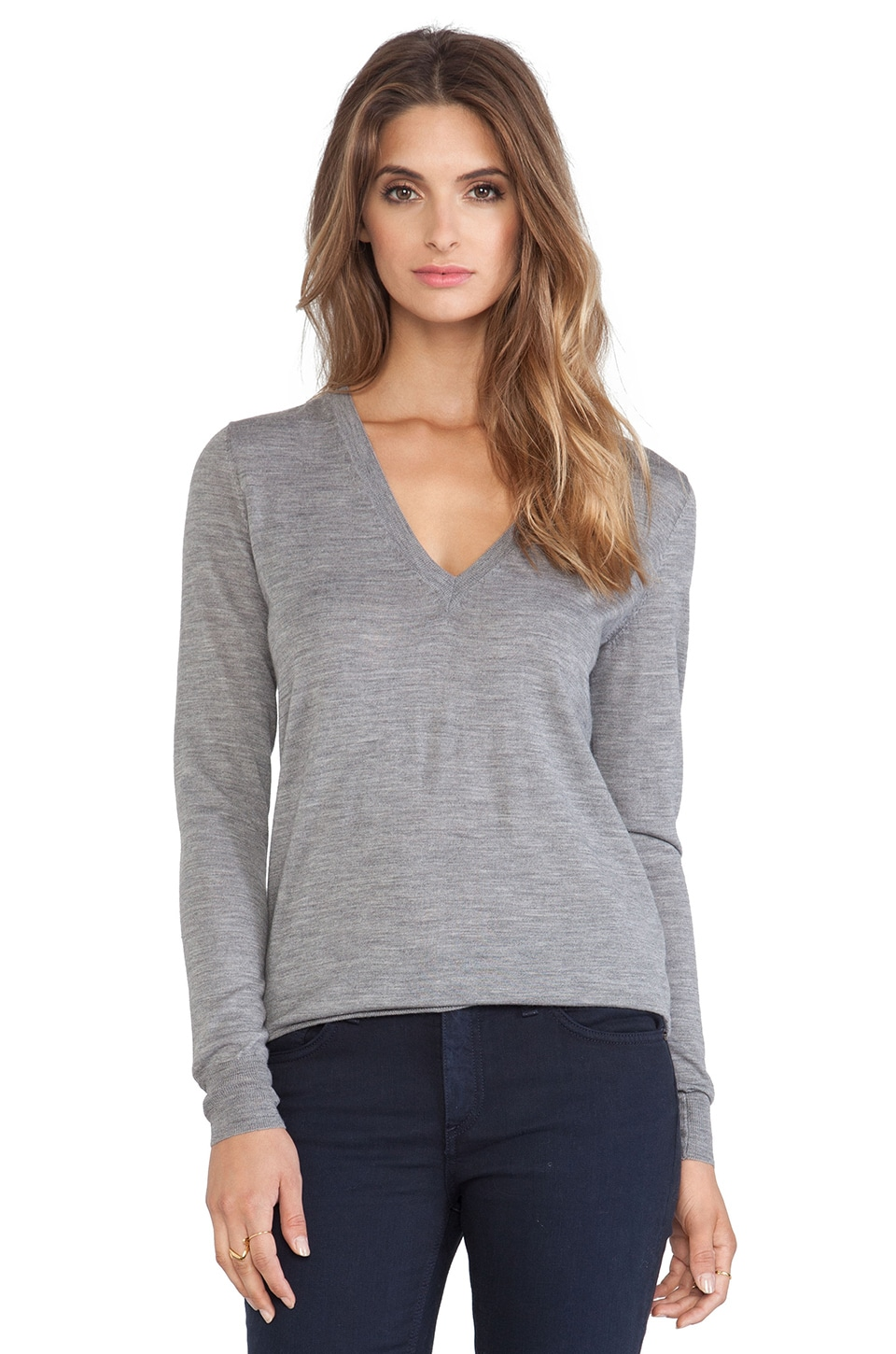 Theory Marlien Sweater in Heather Grey