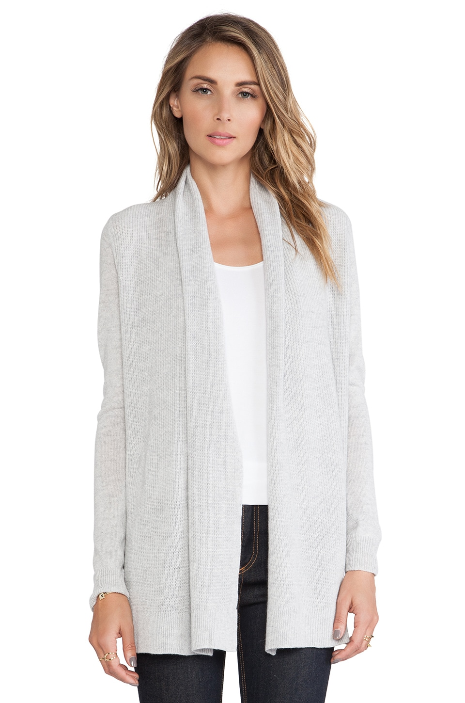 Theory Joyanne Cashmere Cardigan in Icy Grey | REVOLVE