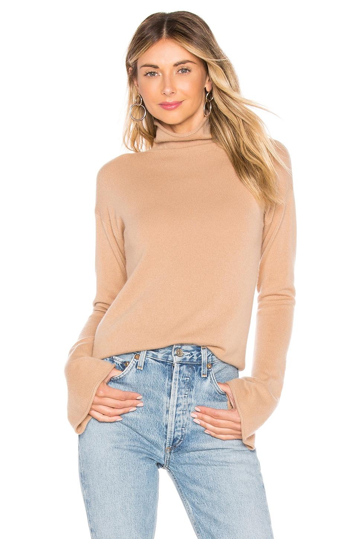 Bell Sleeve Mockneck Sweater