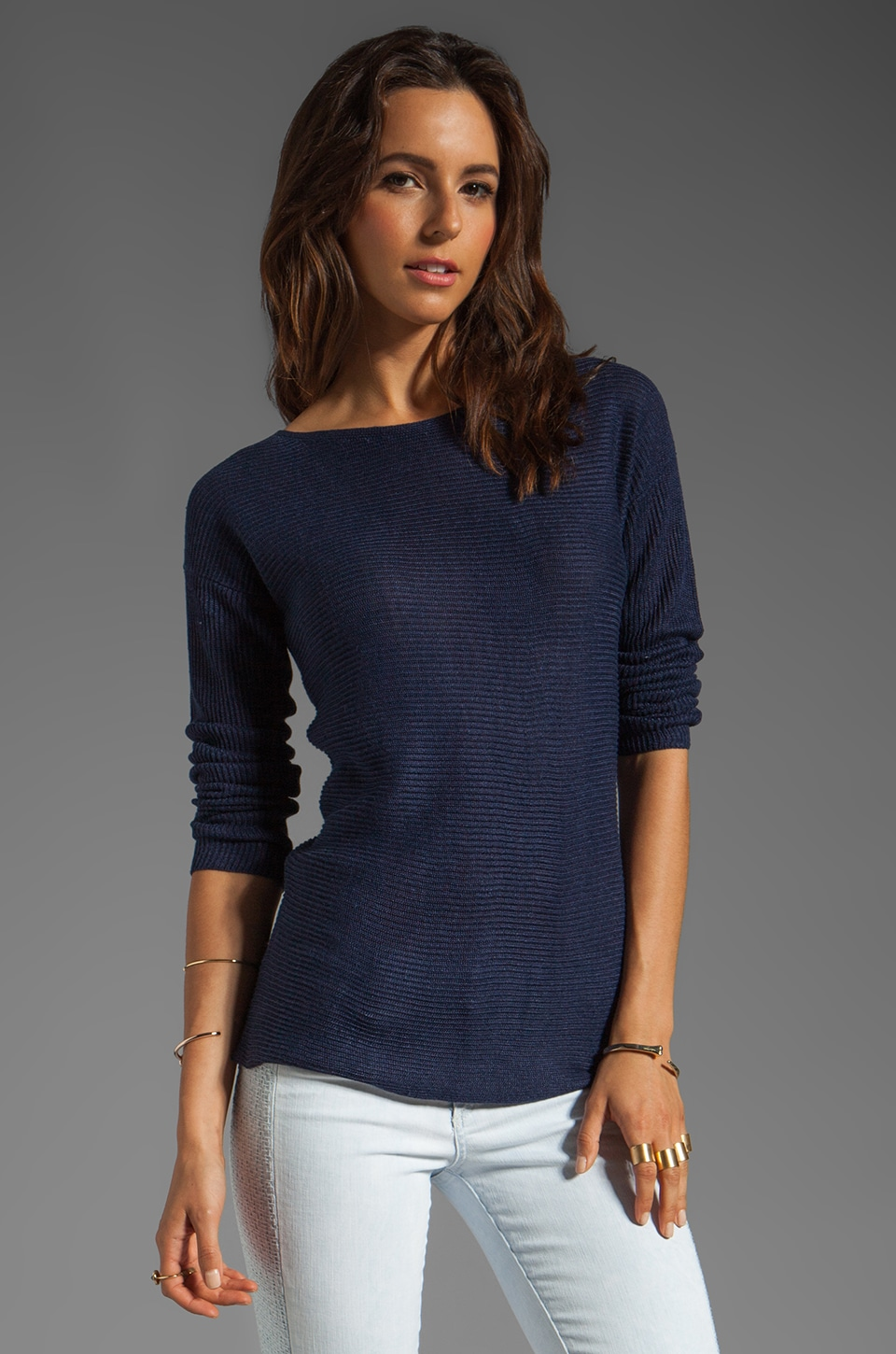 Theory Sag Harbor Lorinna Pullover in True Navy