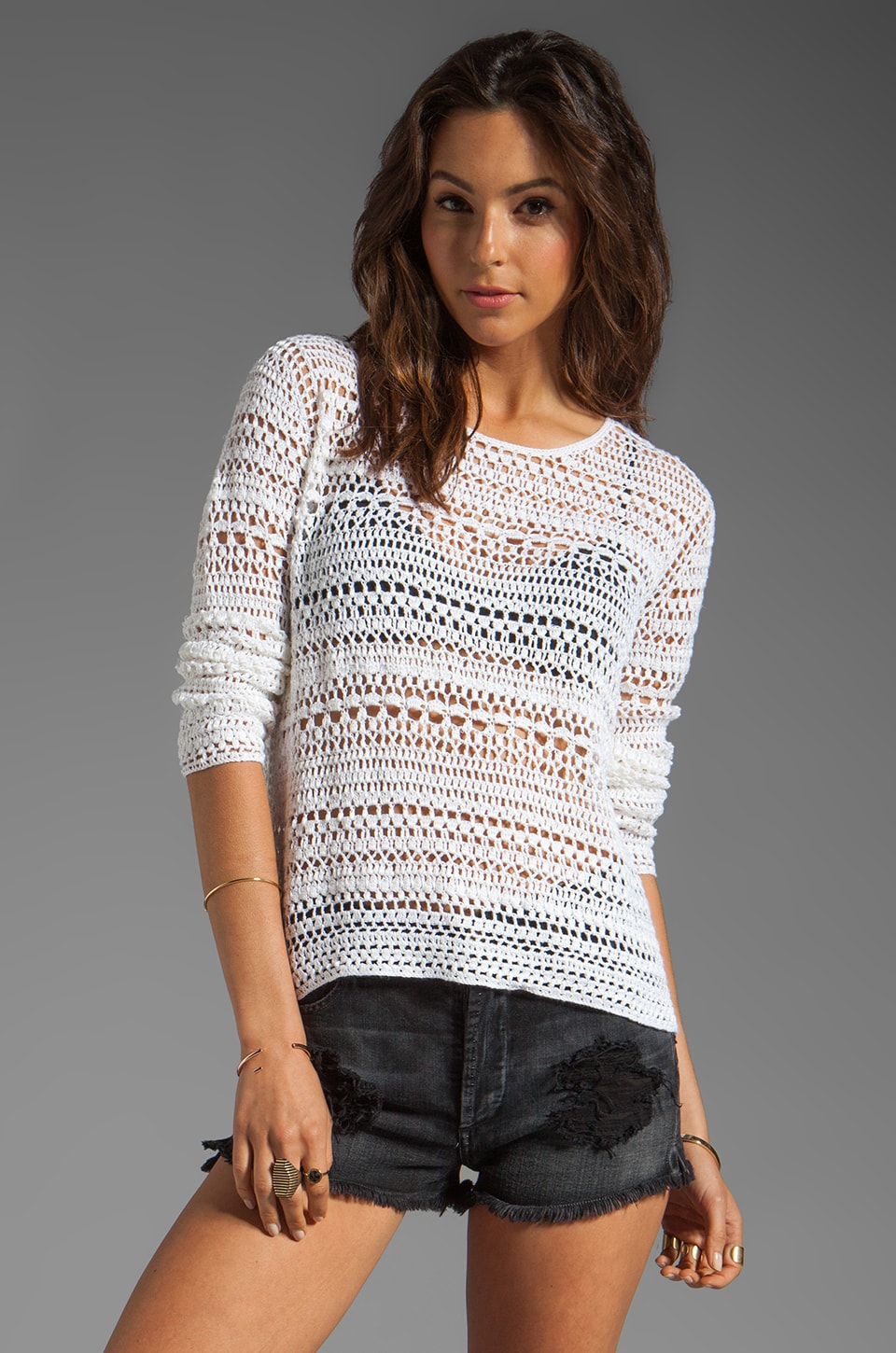 Theory Amena Sag Sweater in Harbor White
