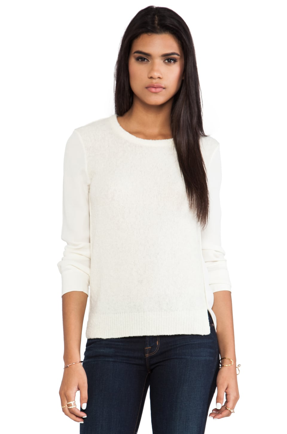 Theory Rolleena Sweater in Ivory