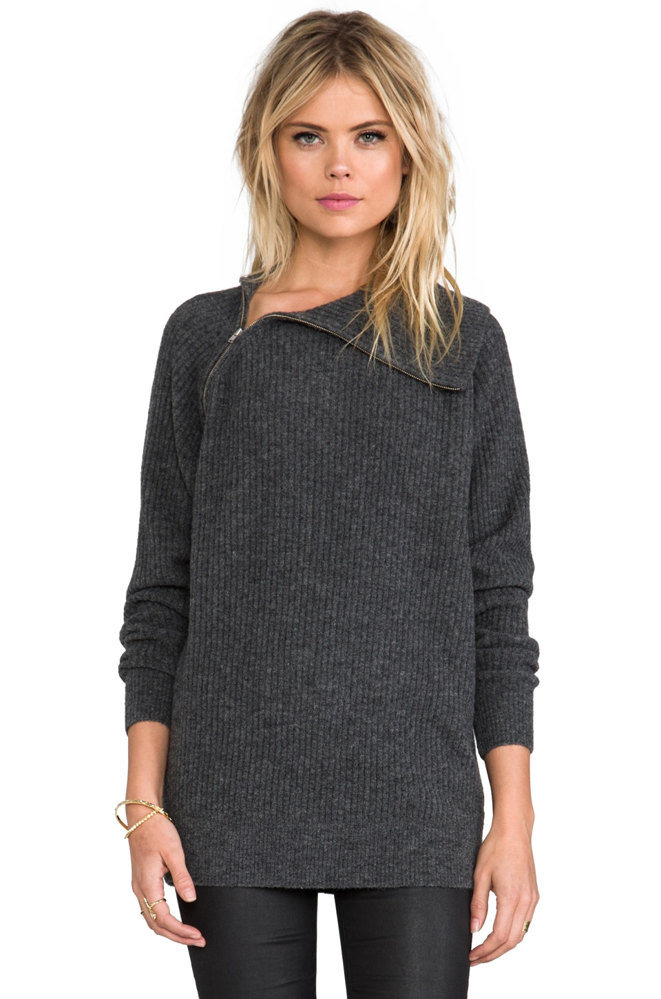Theory Avalon Dimonica Sweater in Carbon