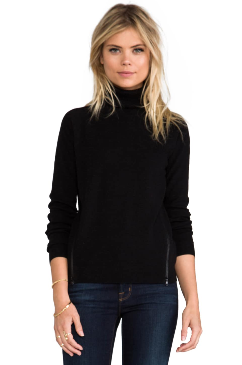 Theory Evian Stretch Kentyn Turtleneck in Black