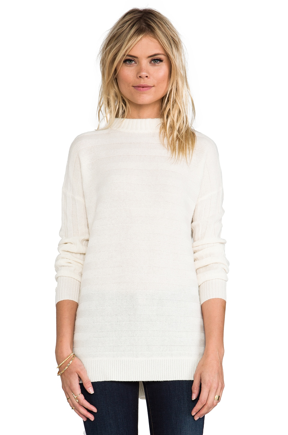 Theory Cashmere Andrista Sweater in Ivory