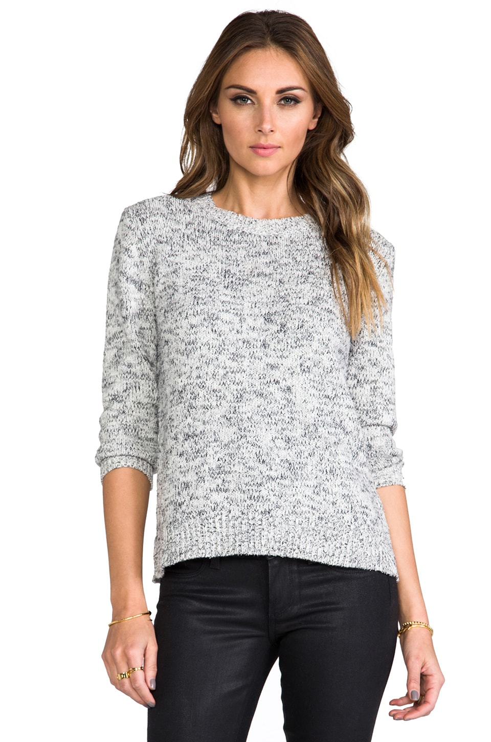 Theory Terry Rainee Sweater in Grey Marl