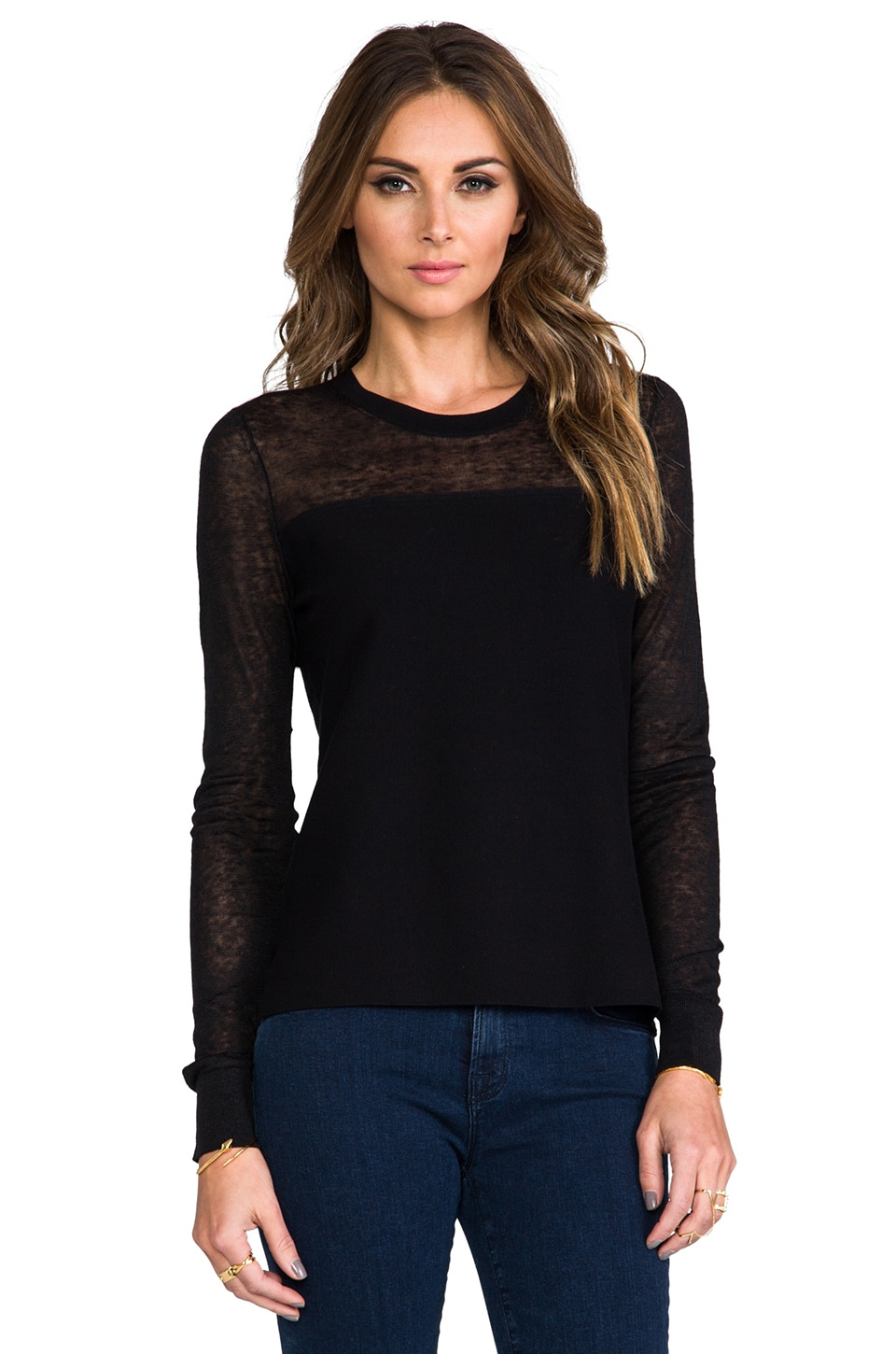 Theory Enchanted Ofenia Sweater in Black