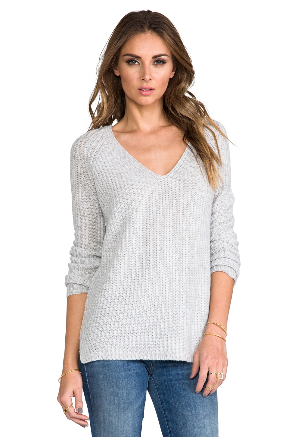 Theory Cashmere Tarladia Sweater in Icy Grey