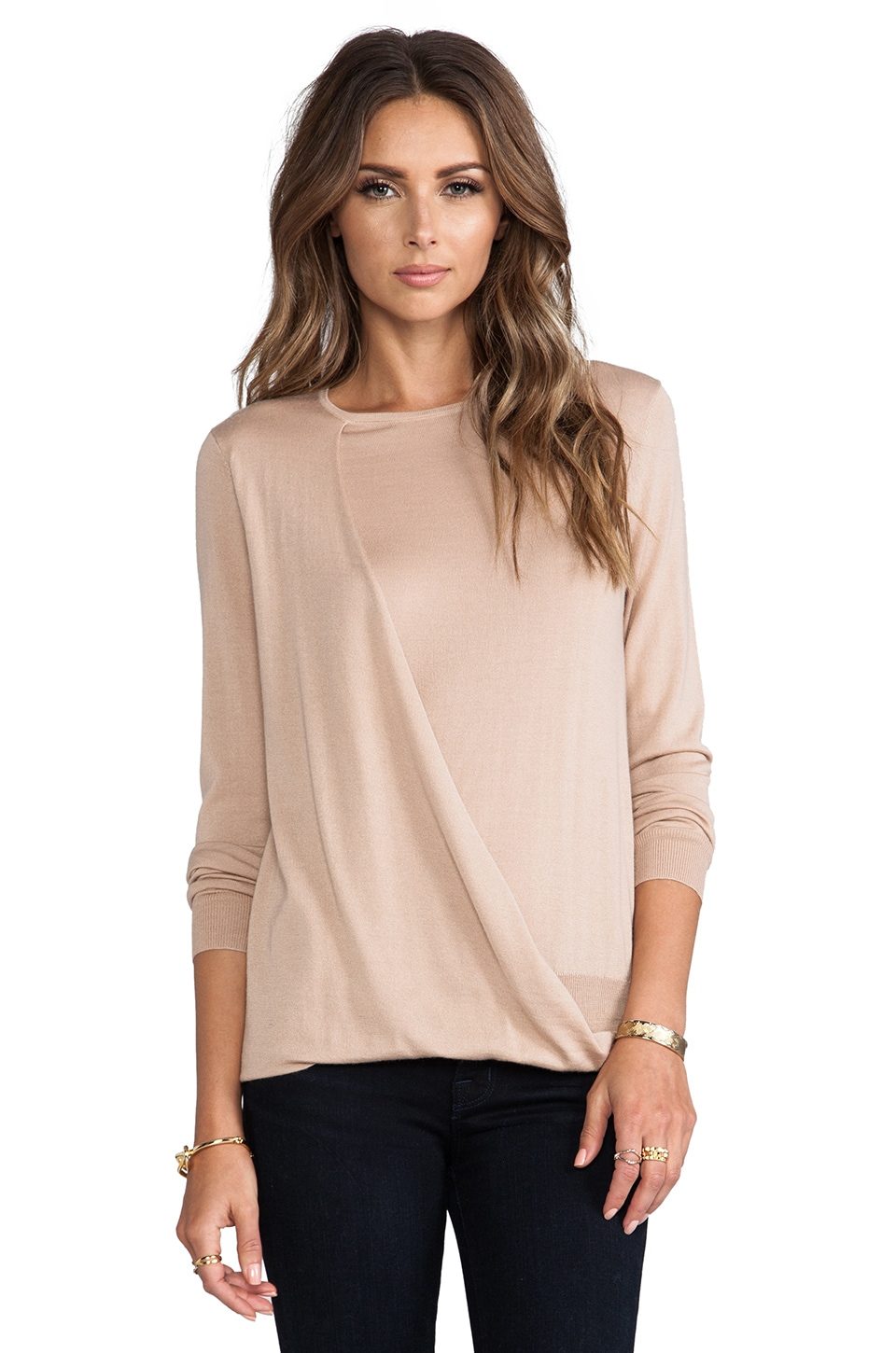 Theory Sempra Pullover in Dark Nude