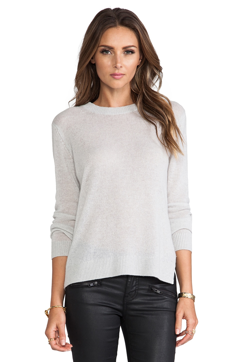 Theory Boslyn Sweater in Pale Heather