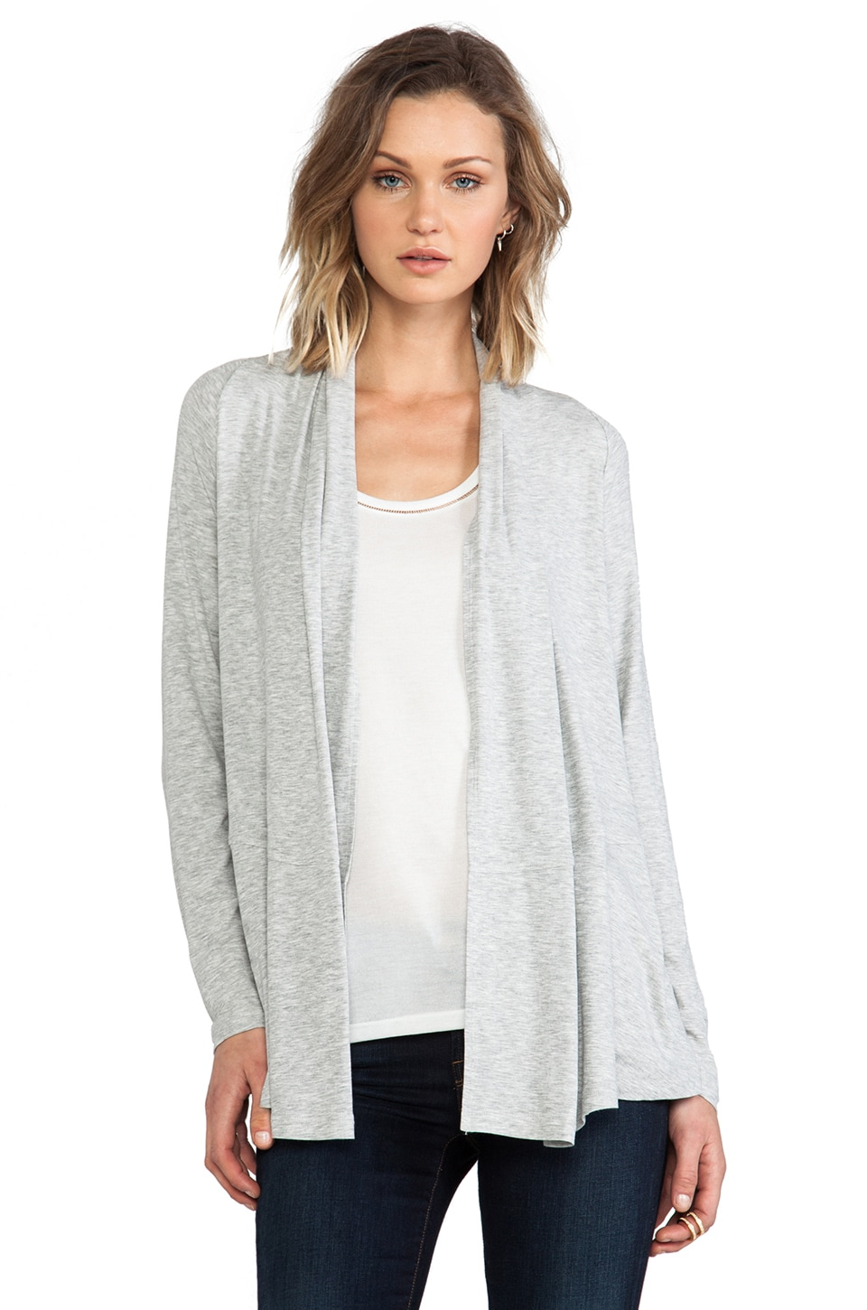 Theory Kalalyn K Cardigan in Frosted Grey