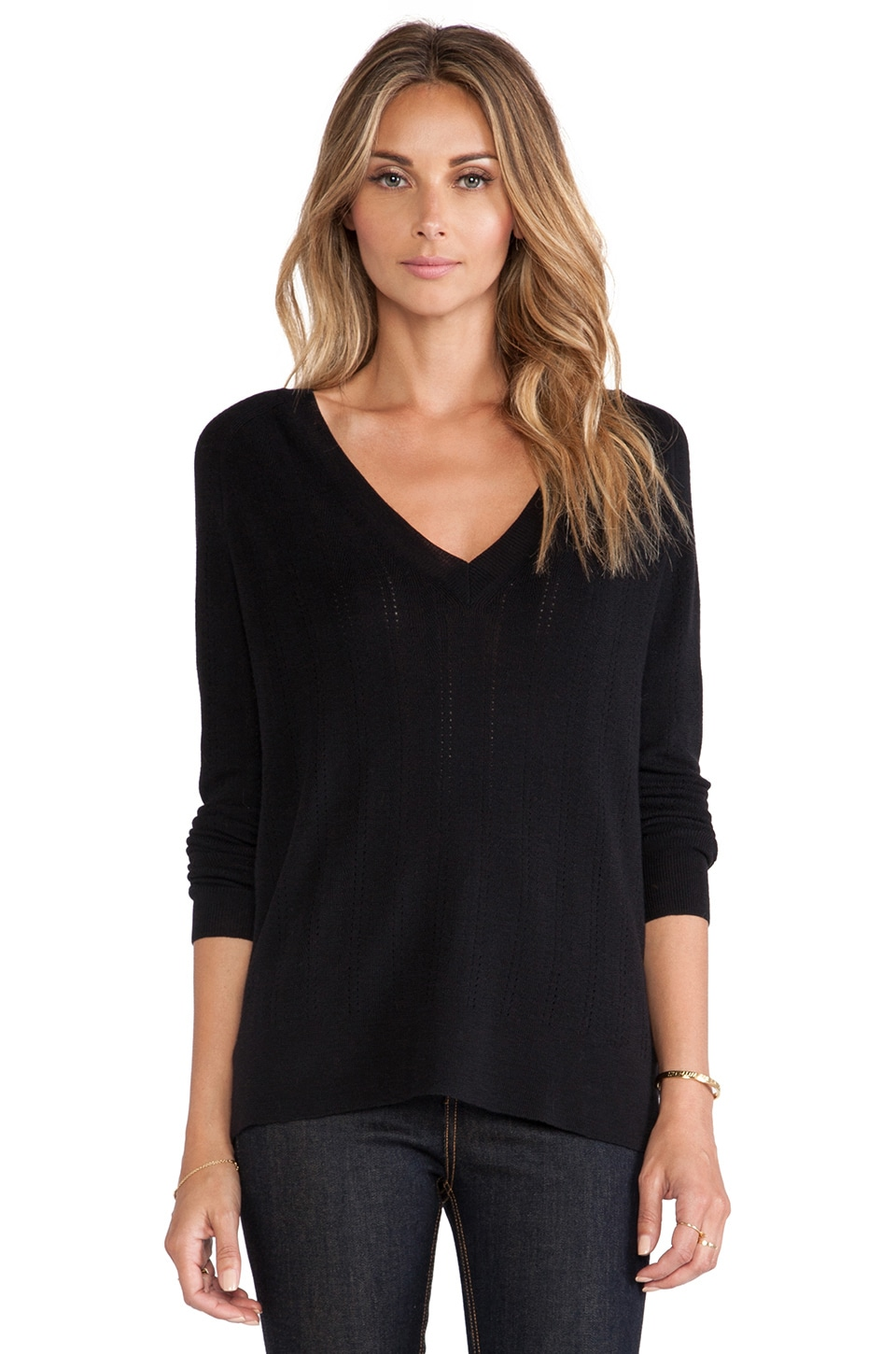 Theory Kommie Sweater in Black