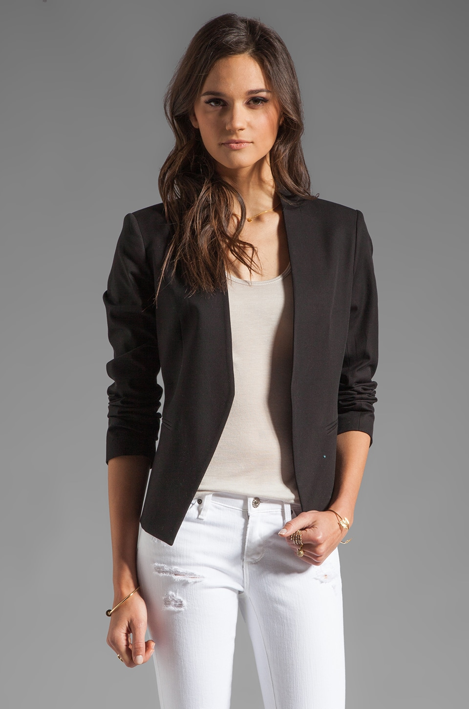Theory Bistretch Lanai Blazer in Black